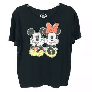 Disney Mickey and Minnie Mouse tee t-shirt